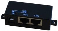 Gigabit-PoE Injector, schwarz