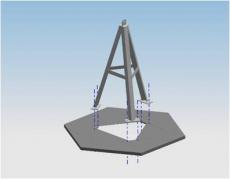 Modulares Aluminiumfundament (16m)