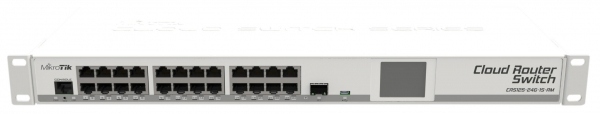 Mikrotik Cloud Router Switch 125 24g 1s Rm Rackmount