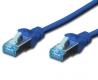 Patchkabel Cat 5e SF-UTP 0,25m blau